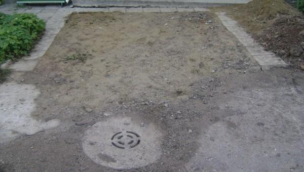 Изравняване на разкопания терен